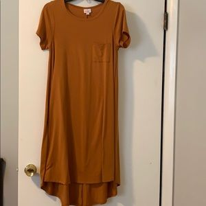 Lularoe Orange XS Carley dress